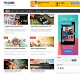 Pressimo Responsive Grid News Magazine WordPress Theme