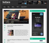 Soltare Responsive Flat WordPress Theme