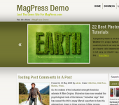 Eco Green WordPress Theme - EcoNox